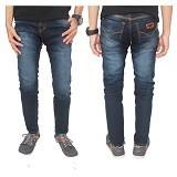 GUDANG FASHION Celana Saku Tempel Jeans Size 27 [CLN 604-27] - Dongker
