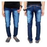 GUDANG FASHION Denim Long Pants Size 32 [CLN 597-32] - Biru Dongker