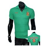 GUDANG FASHION Fashion Kaos Kerah Bola Spain Simple [BOL 640] - Hijau - Polo Pria