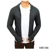 GUDANG FASHION Jaket Ariel Noah [SWE 566-A] - Dark Grey