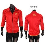 GUDANG FASHION Jaket Pria [JAK 1849-A] - Red - Jaket Outdoor Pria