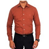 GUDANG FASHION Kemeja Formal Size L [LNG 1400-L] - Coklat