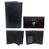 GUDANG FASHION Leather Wallet For Mens [WAL 370-A] - Black - Dompet Pria