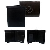 GUDANG FASHION Leather Wallet For Mens [WAL 371-A] - Black - Dompet Pria