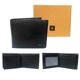 GUDANG FASHION Leather Wallets [WAL 368-A] - Black - Dompet Pria