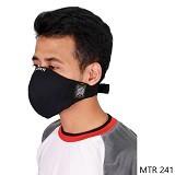 GUDANG FASHION Masker Motor Online [MTR 241] - Hitam - Jas Hujan
