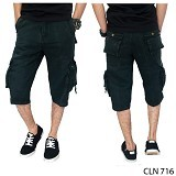 GUDANG FASHION Mens Cargo PantsSize 27 [CLN 716-27] - Black