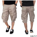 GUDANG FASHION Mens Cargo Shorts Size 31 [CLN 717-31] - Beige