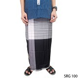 GUDANG FASHION Sarung [SRG 100-A] - Black White - Sarung