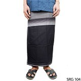 GUDANG FASHION Sarung [SRG 104-A] - Black White - Sarung