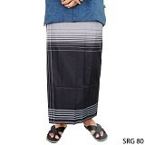 GUDANG FASHION Sarung [SRG 80-A] - Black White (Merchant) - Sarung