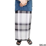GUDANG FASHION Sarung [SRG 83-A] - Black White (Merchant) - Sarung