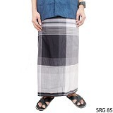 GUDANG FASHION Sarung [SRG 85-A] - Black White - Sarung