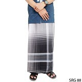 GUDANG FASHION Sarung [SRG 88-A] - Black White - Sarung