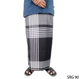 GUDANG FASHION Sarung [SRG 90-A] - Black White - Sarung