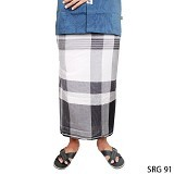 GUDANG FASHION Sarung [SRG 91-A] - Black White - Sarung