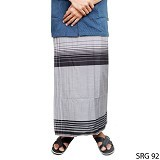 GUDANG FASHION Sarung [SRG 92-A] - Black White - Sarung