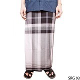 GUDANG FASHION Sarung [SRG 93-A] - Black White - Sarung