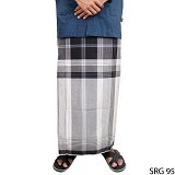 GUDANG FASHION Sarung [SRG 95-A] - Black White - Sarung