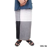 GUDANG FASHION Sarung [SRG 96-A] - Black White - Sarung