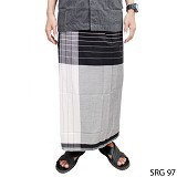 GUDANG FASHION Sarung [SRG 97-A] - Black White (Merchant) - Sarung