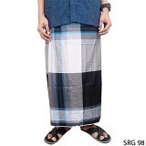 GUDANG FASHION Sarung [SRG 98-A] - Black White - Sarung