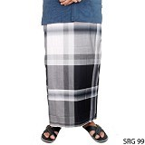 GUDANG FASHION Sarung [SRG 99-A] - Black White - Sarung