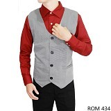 GUDANG FASHION Vest for Mens [ROM 434-A] - Light Grey - Vest Pria