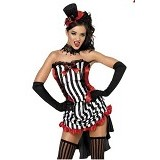 HAILADIES Womens Vampire Costume [PC 224] - Black - Mini Dress Wanita