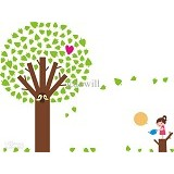 HANA WALLSTICKER Love Tree WS 60x90cm - Wall Art / Hiasan Dinding