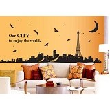 HANA WALLSTICKER Our City Paris Ws 60x90cm - Wall Art / Hiasan Dinding