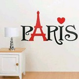 HANA WALLSTICKER Paris Caption Love Ws 60x90cm - Wall Art / Hiasan Dinding