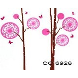 HANA WALLSTICKER Pink Tree Cute Ws 60x90cm - Wall Art / Hiasan Dinding