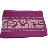 HANDUK 55 Handuk Motif 70x140 - Purple Leaves (V)
