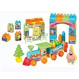 HAPPY TOON SpongeBob Train Block [NB-01354] - Building Set Transportation
