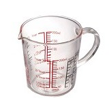 HARIO Measuring Cup Wide 200ml [CMJW-200] - Gelas Ukur