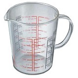 HARIO Measuring Cup Wide 500ml [CMJW-500] - Gelas Ukur