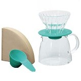 HARIO V60 Glass Dripper and Pot Clear [VGS-3512-TC] - Mesin Kopi Manual