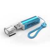 HAVIT All In 1 Card Reader [HV-C26] - Blue - Memory Card Reader External