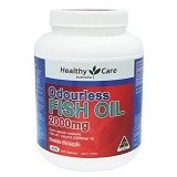 HEALTHY CARE Odourless Double High Strength Fish Oil 2000mg 400 Caps [HCFODS400C] - Suplement Pencegah Penyakit Jantung / Kolesterol