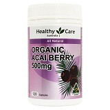 HEALTHY CARE Organic Acai Berry 500mg 120 Caps [HCAB120C] - Suplement Pelangsing Tubuh