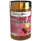 HEALTHY CARE Super Cranberry 25000 90 Caps [BMBIOCC-32] - Suplement Penambah Daya Tahan Tubuh