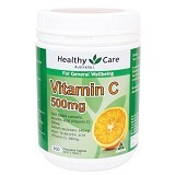 HEALTHY CARE Vitamin C 500mg 500 caps [HCVC500GR] - Suplement Penambah Daya Tahan Tubuh