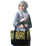 HEEJOU BAG Carmella - Black/Yellow - Tote Bag Wanita