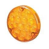 HELLA 500 Series LED Front Direction Indicator Module [2105] - Amber (Merchant) - Lampu Sorot Led