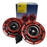 HELLA Super Tone Horn Set - Red (Merchant) - Klakson Mobil