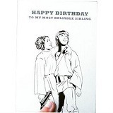 HENVANMEDIA Famous Siblings in the Galaxy Luke Skywalker & Princess Leia Greeting Card (Merchant) - Kartu Ucapan/Greetings Card