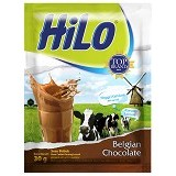 HILO Belgian Chocolate 10 Sachet - Susu Bubuk & Kemasan