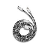 HIPPO Valley Dual Cable 2in1 200CM - Grey - Cable / Connector Usb