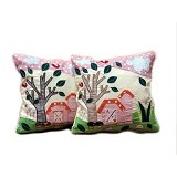 HOBIHOUSE Bantal Flower Garden - Bantal Dekorasi